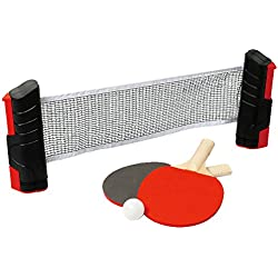 Mr - Set ping pong red ajustable+raquetas+bolas
