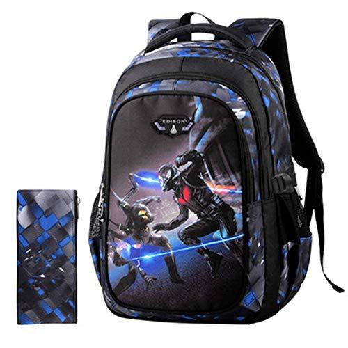 HHUPII Bag Black Panther Batman Elementary Und Middle School Schoolbag Multifunktions Persönlichkeit Rucksack Kinderrucksäcke (Color : 4, Size : M) -