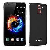 HOMTOM HT30 Pro 4G LTE Smartphone Android 7.0 (3GB RAM 32GB ROM, 5.5 Zoll HD Screen, 8MP + 5MP Dual Kamera, Dual SIM Handy ohne vertrag, 3000mAh Akku, Fingerabdruck) - Schwarz