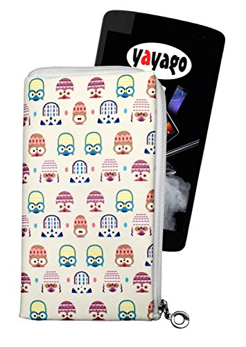 yayago Tasche für Haier Phone L52 Hülle Motiv Eule mit Reißverschluss