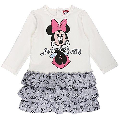 Disney Ragazze Minnie Mouse Vestito, bianco, taglia 80, 12 mesi