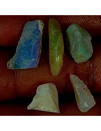 11.40cts 100% natural al por mayor Lot Australia Multi Lightning Opal Rough spicemen 5pcs Loose Gemstone
