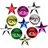 Christmas Stars And Santa Hanging Bells Pack Of-10 - B07DPSWCLH