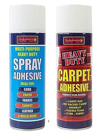 2 x Multipurpose Heavy Duty Glue Spray 200ML Carpet Contact Adhesive (Adhesive Backed Cork)