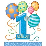 Best UNIQUE Goodie Bags - Blue Balloons 1st Birthday Party Bags, Pack of Review