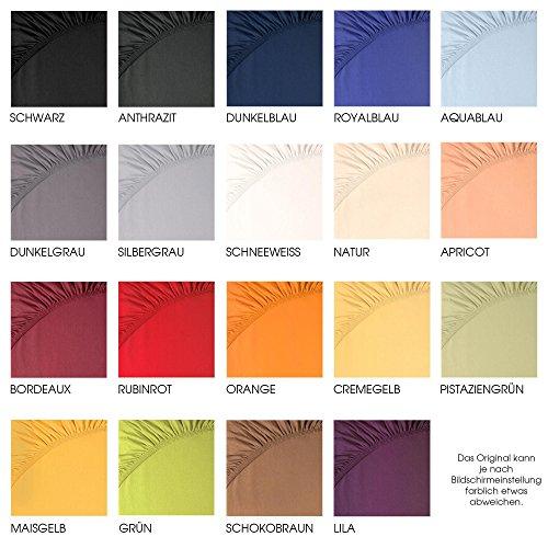 aqua-textil Jersey Spannbettlaken, Baumwolle, Schnee weiß, 180 x 200 – 200 x 220 cm