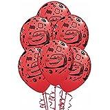 Amscan RM450256 - Juego de globos grandes para fiestas con diseño de Cars 2 (látex, 5 unidades)