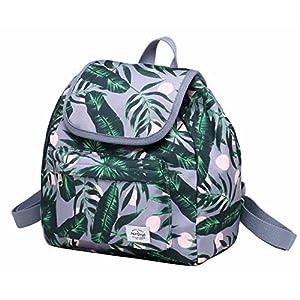 51mOV4DHeOL. SS300  - MIETTE Mini mochila monedero para niñas y mujeres, linda pequeña bolsa con cordón con solapa superior, geometría, negro