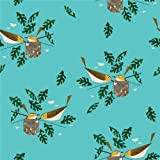 Bird Canvas Stoff–Vögel auf Aqua