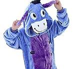 CIRAD Kostüm Jumpsuit Tier Fasching Karneval Halloween kostüm kinder Unisex Schlafanzug (100 (2-3 Jahre), Esel)