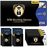 Protezione RFID, Gritin 18 Pezzi Custodie Protettiva Blocco RFID Carta di Credito e Passaporto-14 Blocco Carta di Credito & 4