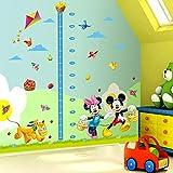Smart Art Disney Mickey Mouse Messlatte Wandaufkleber Zimmer Wandtattoo Karikatur Kinderzimmer Wandbild Wohnkultur