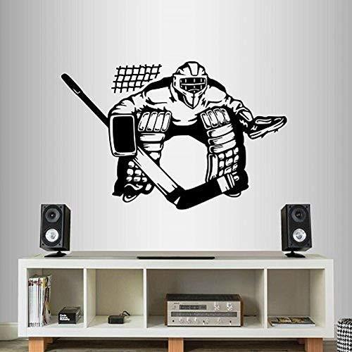 Eishockey Goalie Entfernbare Wandaufkleber Für Wohnzimmer Kunst Dekoration Vinyl Aufkleber Gym Hintergrund Jungen Schlafzimmer Wandbilder 47 * 42 Cm