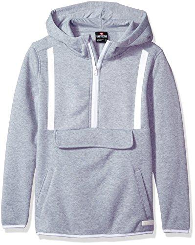 Southpole Jungen Desire Sleeve Fleece Anorak With Tech Tape Detail  Kapuzenpulli  -  grau -