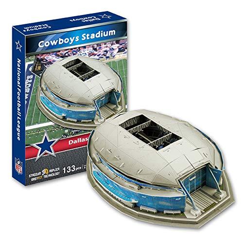 EP-model Rugby 3D-Stadionmodell, NFL Dallas Cowboys Fußballmannschaft Startseite Cowboystadion Modell Fans DIY Souvenir, 17