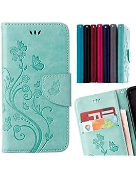 LEMORRY Huawei Honor 5A (Huawei Y6 2) Custodia Pelle Cuoio Flip Portafoglio Borsa Sottile Fit Bumper Protettivo...