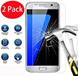 2 Pack - Samsung Galaxy S7 Verre Trempé, FoneExpert Vitre Protection Film de protecteur d'écran Glass Film Tempered Glass Screen Protector Pour Samsung Galaxy S7
