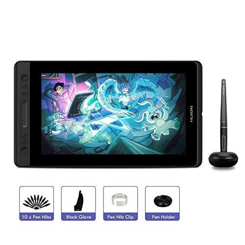 HUION Kamvas pro 12 Grafikmonitor,11.6 Zoll HD-Bildschirm Grafiktablett mit 4 Schnelltasten,Digitalstift mit 8192 Druckempfindlichkeit, der die Neigefunktion unterstützt(Ohne Stehen)