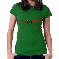 t-shirt mamma love e cuore, tutte le taglie da donna ideale per la festa della mamma maglietta by tshirteria