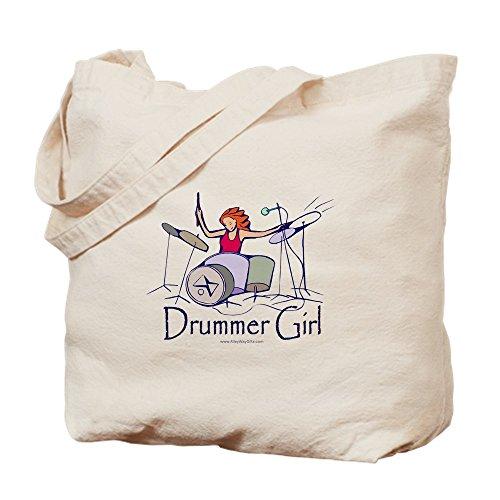CafePress–Drummer Girl–Leinwand Natur Tasche, Reinigungstuch Einkaufstasche Tote S khaki