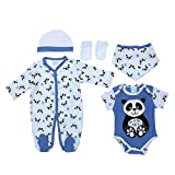 Baby-Jungen Erstausstattung, Baby-Jungen 5 Teiler Erstausstattung Just Too Cute 5 Teiler, Blau, in Größe 40/50