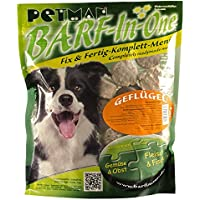 petman barf All-in-One Aves, 6x 750g de bolsa, congelador Forro, saludable, naturales Nutrición para perros, perros Forro, barf, b.a.r.f.