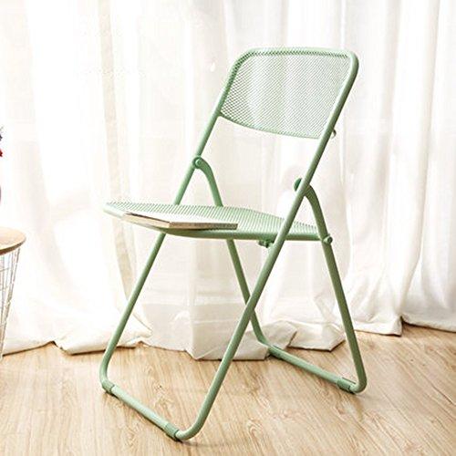 MAZHONG Tabourets Chaises pliantes Portable à la maison Chaises de salle à manger Salon Balcon Lounge Chair Nordic Minimalist Portable Chaise (Couleur : A)