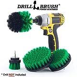 Drillbrush 4 pezzi kit di montaggio per pulizia in casa per il lavaggio/pulizia delle mattonelle 1 confezione medio-verde