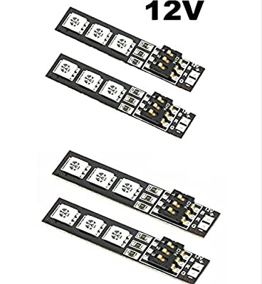 Rcmodelpart 5050 RGB LED Strip Night Light 7 Colors 12V with DIP Switch for QAV250 FPV 250 ZMR250 F450 Quadcopter(pack of 4 pcs)