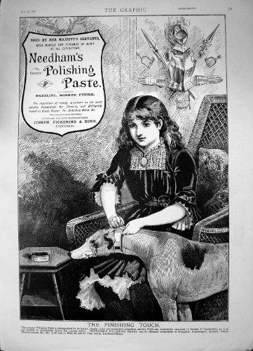 Stampa Antica del Rame D'ottone di Lucidatura di Lucidatura 1886