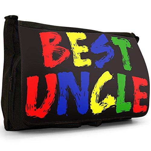 Fancy A Bag Borsa Messenger nero Best Uncle Birthday Gift Best Uncle Birthday Gift