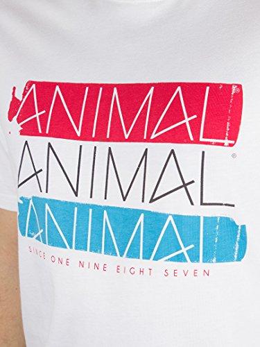 Animal Herren 3 Logo-Grafik-T-Shirt, Weiß Weiß