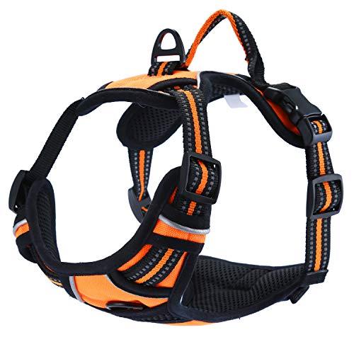 No-Pull Hundegeschirr Einstellbar Weste Brustgeschirr mit Reflektierende Weich Gepolstert -