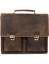 Genuine Leather Cross Body Bag-Men's Messenger Bag–Men's Portfolio Bag–Men's Shoulder Bag - Leather Computer Laptop...