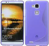 Huawei Ascend Mate 7 Silikon Hülle Schale Tasche in Lila @ Energmix