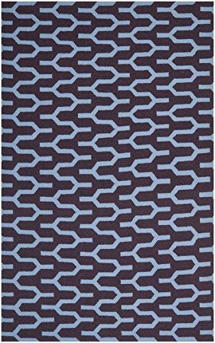 Safavieh Karina Handgewebtes Flachgewebe Teppich, Wolle and Bananenseide, Lila / Blau, 182 x 274 cm (Safavieh-teppiche Lila)