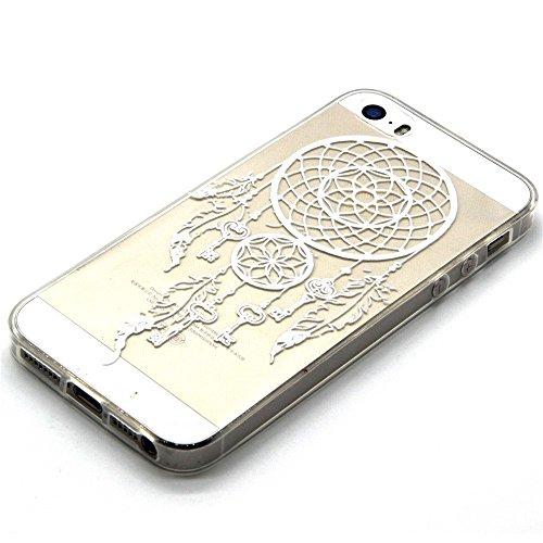 TPU Silikon Schutzhülle Handyhülle Painted pc case cover hülle Handy-Fall-Haut Shell Abdeckungen für Smartphone Apple iPhone 5 5S SE +Staubstecker (Q3) 4