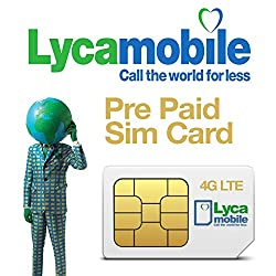 Lycamobile Italy simcard Voice and Data Plan II (International Red + Data S)