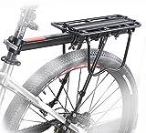 COMINGFIT 110 Lbs Capacity Aluminum Alloy Bicycle Rear Rack Adjustable Pannier Bike Luggage