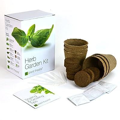 Geschenkbox Kit Kräutergartensaatgut - 6 verschiedene Kräuter zum Züchten - Ein tolles Geschenk von Plant Theatre bei Du und dein Garten