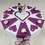 Schachteltorte BEERE-WEISS Geldgeschenk Torte Hochzeit Geschenkidee
