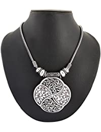 Archiecs Creations Silver Plated Strand Necklace For Women (Handi_161)