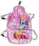 Rückenlehnenschutz Disney Princess / Rapunzel - 4 Fächer Sitzschutz - als Schutz für das Auto / Autositz - für Kinder - Motiv Prinzessin - Rückenlehne Reise Aufbewahrung / für Mädchen Arielle Schneewittchen