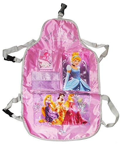 Unbekannt Rückenlehnenschutz Disney Princess / Rapunzel - 4 Fächer Sitzschutz - als Schutz für das Auto / Autositz - für Kinder - Motiv Prinzessin - Rückenlehne Reise A..