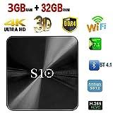 TV BOX, 3G 32G S10 Smart 4K TV Box Android 7.1 Amlogic S912 Octa Core 3GB DDR4 RAM 32GB ROM Actualización automática Set Top Box Soporte 3D 4K HD TV Bluetooth 4.1 Wifi immagine