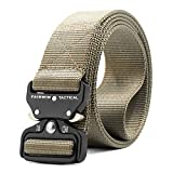 ZORO Men's Nylon Tactical Military Style Webbing Belt with Metal Buckle (Beige, Large)