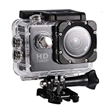 Mini DV Sports Camera, Waterproof Outdoor Sport Action Camera 1080P HD Camcorder, 2 Inch High Definition Screen, 90 Degree Wide View Angle, Good For Cycling Hiking Swimming Skiing(7 Colors)(Black)