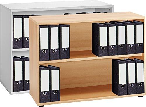 VCM 4-tlg Aktenregal Set Büro Schrank Regal Büroschrank Aktenschrank Sideboard Omegos 555