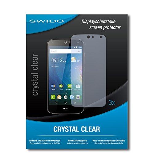 SWIDO Bildschirmschutzfolie für Acer Liquid Z630 [3 Stück] Kristall-Klar, Extrem Kratzfest, Schutz vor Öl, Staub & Kratzer/Glasfolie, Bildschirmschutz, Schutzfolie, Panzerfolie