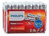 BATTERY, POWER ALKALINE AAA 24PK LR03P24F By PHILIPS